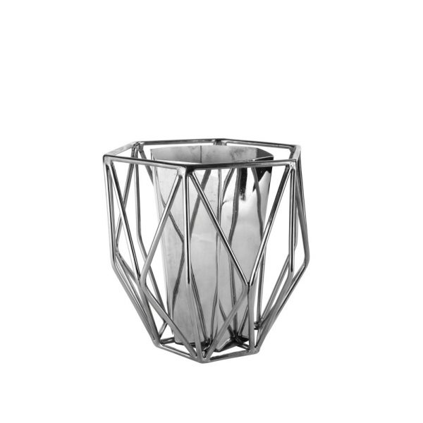 Cage Vase Stainless Steel
