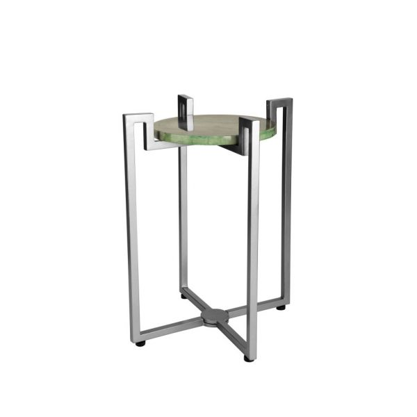 Folding Arch Table in Silver