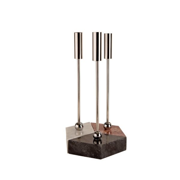 Hex Candlestand silver