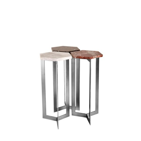 Hex Table Set in Silver
