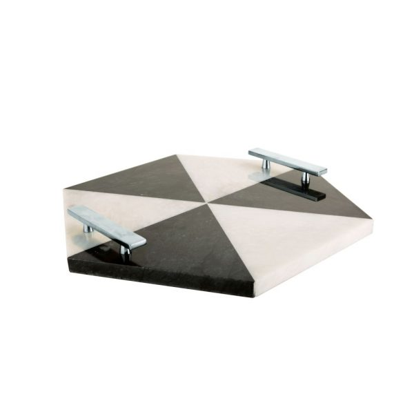 Hex Tray Silver