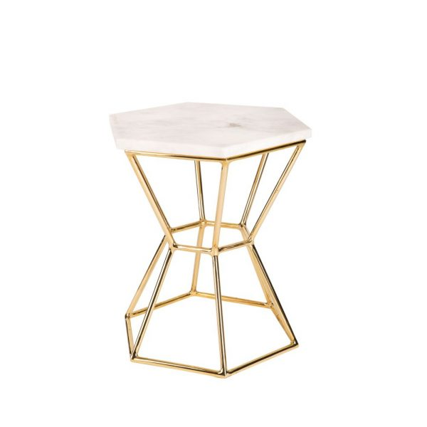 Hourglass Table in Brass